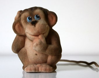 Vintage russian soft toy MONKEY from Soviet Unions 70s