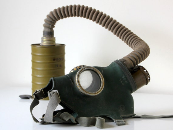 Russian gas mask set from 1958
