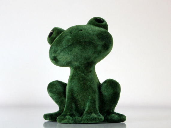 Vintage Frog from USSR, toy made in Soviet Union, 70s