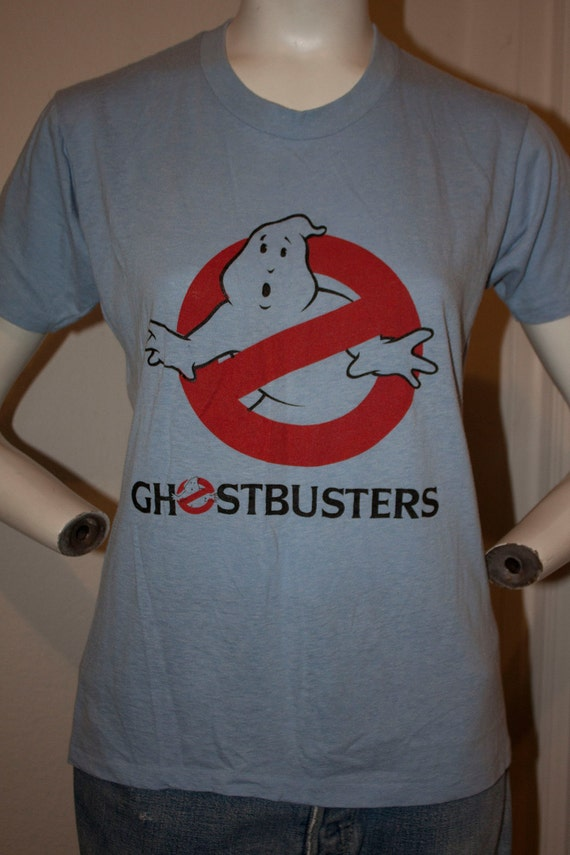 1980's GHOSTBUSTERS vintage movie hipster soft thin slimer memorabilia tshirt top sz S/M