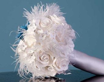 Clay Flower Bouquet - Clay Bouquet - Custom Clay Bouquet - Custom Wedding Bouquet - Alternative Wedding Bouquet - Floral Bouquet - DEPOSIT