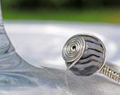 Banded Agate Rondelle Ring