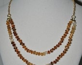 RESERVED FOR BOODLES Brandy Citrine Knotted Necklace with Chain