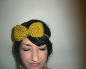 Jane Knit Bow Headband