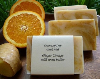 Ginger Orange (with Goat Milk, Cocoa Butter and Ground Orange Peel)