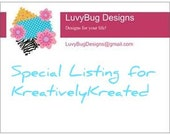 Special Listing for KreativelyKreated 2 Tiaras