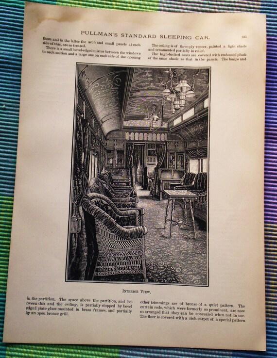 Pullman's Smoking Room Print - Railway Car Construction, Voss 1892 book plate