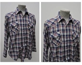 vintage western shirt plaid vintage western shirt 17 - 35