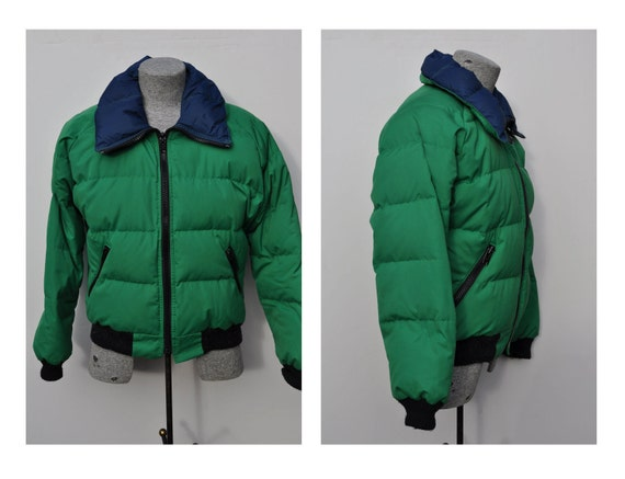 vintage down jacket powderhorn mountaineering medium puffy