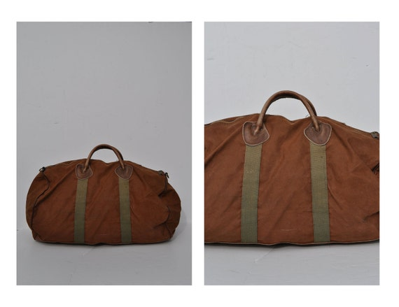 ll bean vintage duffle bag vintage duffel bag canvas by