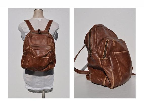 vintage leather backpack leather back pack rucksack ruck sack leather ruck sack leather rucksack