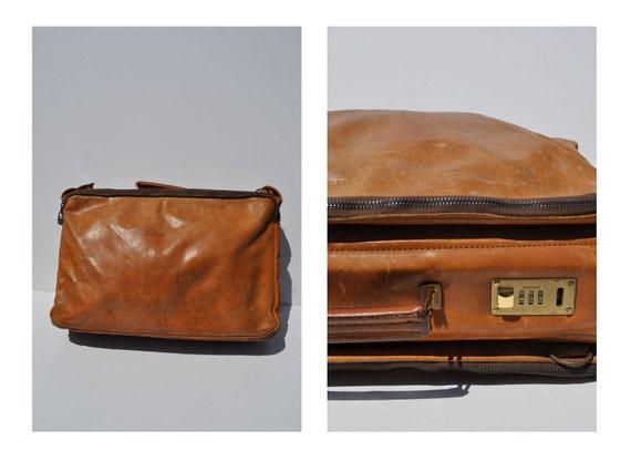 vintage leather carry on bag weekender tote LARGE vintage leather bag custom luggage suitcase