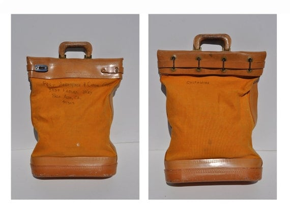 vintage canvas DEPOSIT BAG banking bag bank