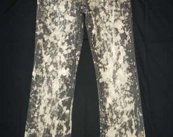 Tie Dye Jeans, Upcycled, Denim Jeans, Bootleg, Upcycled