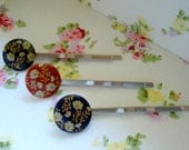 Pretty hairslides from vintage buttons