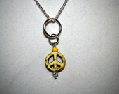 Yellow peace necklace