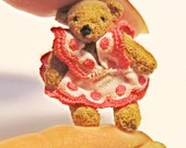 Micro Artist Bear  Miniature Bear  only 3 cm.real