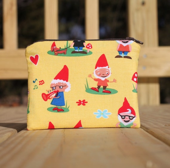 5 inch Zipper Pouch - Woodland Gnomes