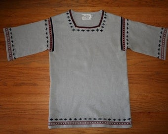 Vintage 1960s knit fall sweater / Size Medium