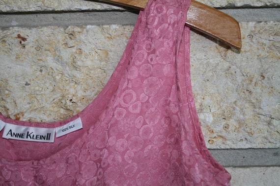 SALE Vintage Bubblegum Geometric Swirl Print Silk Tank