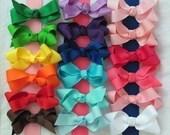 5 Pack Medium Solid Color Grosgrain Hair Bows