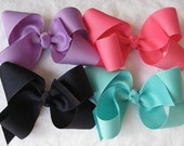 5 Pack- Extra Large Grosgrain Hair Bows- Choose From Over 40 Colors