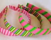 Headband- Preppy Stripe Grosgrain Ribbon Headband