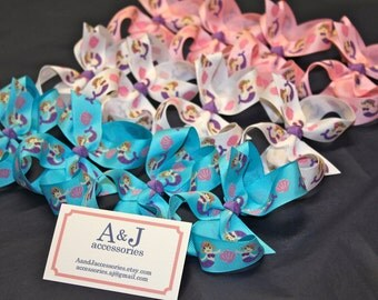 Party Favors- Design Your Own Hair Bow Favors- 12 Large Hair Bows