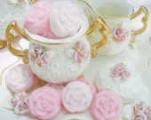Pink Medley Sugar Roses, Sucre Moule, Molded Sugar...The perfect touch for your tea