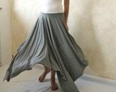 Gipsy strapless jersey maxi dress - asymmetrical long skirt - optical