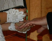 Elegant Chic Keepsake, Half Glove, Brides or Bridal Party. Classic, Fingerless glove created in lace. Elegant and Heirloom Quality