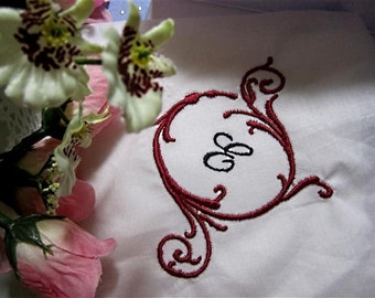 Monogrammed and embellished hankerchief.  Lace or simple handkerchief for bridal giving. Chose your own colors