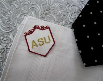Unique, Custom Father of the Bride-Father of the Groom-Monogrammed Hankies for the men in your wedding, Gift envelop for handkerchiefs