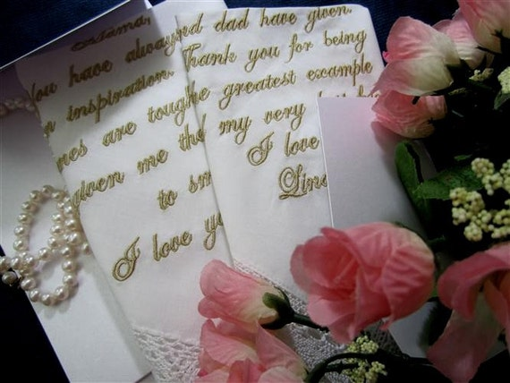 Both a Mother and Mother In Law Lace Personalized Hankie Listing, Heirloom Embroidery, with gift envelop, lace hankerchief