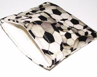Soccer Snack Bag - Reusable Snack Pack - Soccer Lunch Pouch - Reusable Soccer Snack Pack - Great for Soccer Team