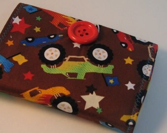 Handmade Crayon Wallet - Crayola Wallet - READY TO SHIP- Trucks - Adorable Gift