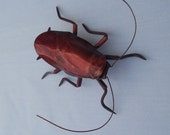 3 1/2 inch Red Roach Wall Sculpture