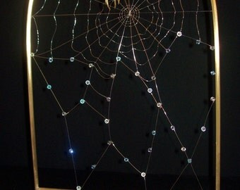 BOO Spider Web Brass Metal Sculpture