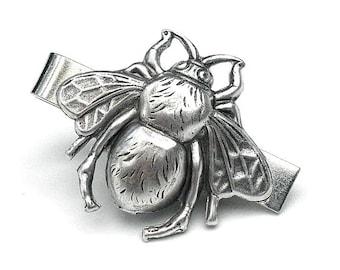 PS,SALE,Steampunk Bee Tie Clip,Mens Formal Wear, Steampunk Goth,Cosplay Fashion,Ewardian Fantasy,Mens Wear,Tie Bar,Bumble Bee