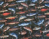 Quilt, Wildlife Fish ,Minky Backing,  Professionally Quilted