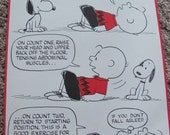 Vintage Peanuts Exercise Poster - Head Raiser - 10 x 15