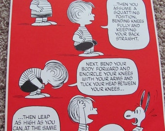 Vintage Peanuts Exercise Poster 10 x 15 - Halloween Hop