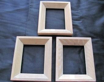 Set of 3 Solid Wood Frames - 7 x 6