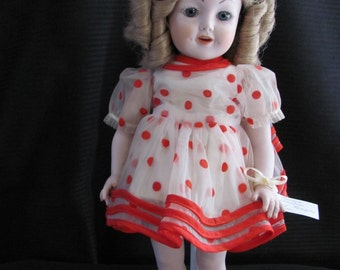 Beautiful Collectible Porcelain Shirley Temple Doll
