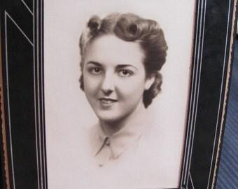 Antique Folding Cardboard Frame and Photograph Circa 1939