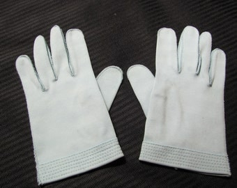 Gloves Vintage Retro Blue Cotton Wrist Gloves - Wear Right Germany (113)