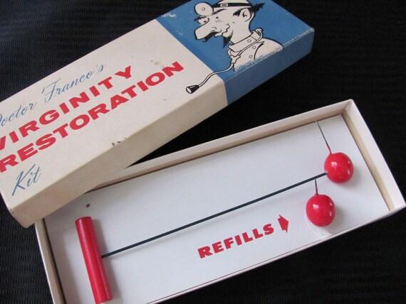 Vintage Novelty Gag Gift - Virginity Restoration Kit