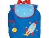 Stephen Joseph Personalized Monogrammed Rocket Backpack