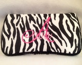 Zebra and Pink Travel Wipe Case
