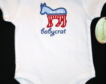 Babycrat Democrat Infant Short Sleeve Body Suit